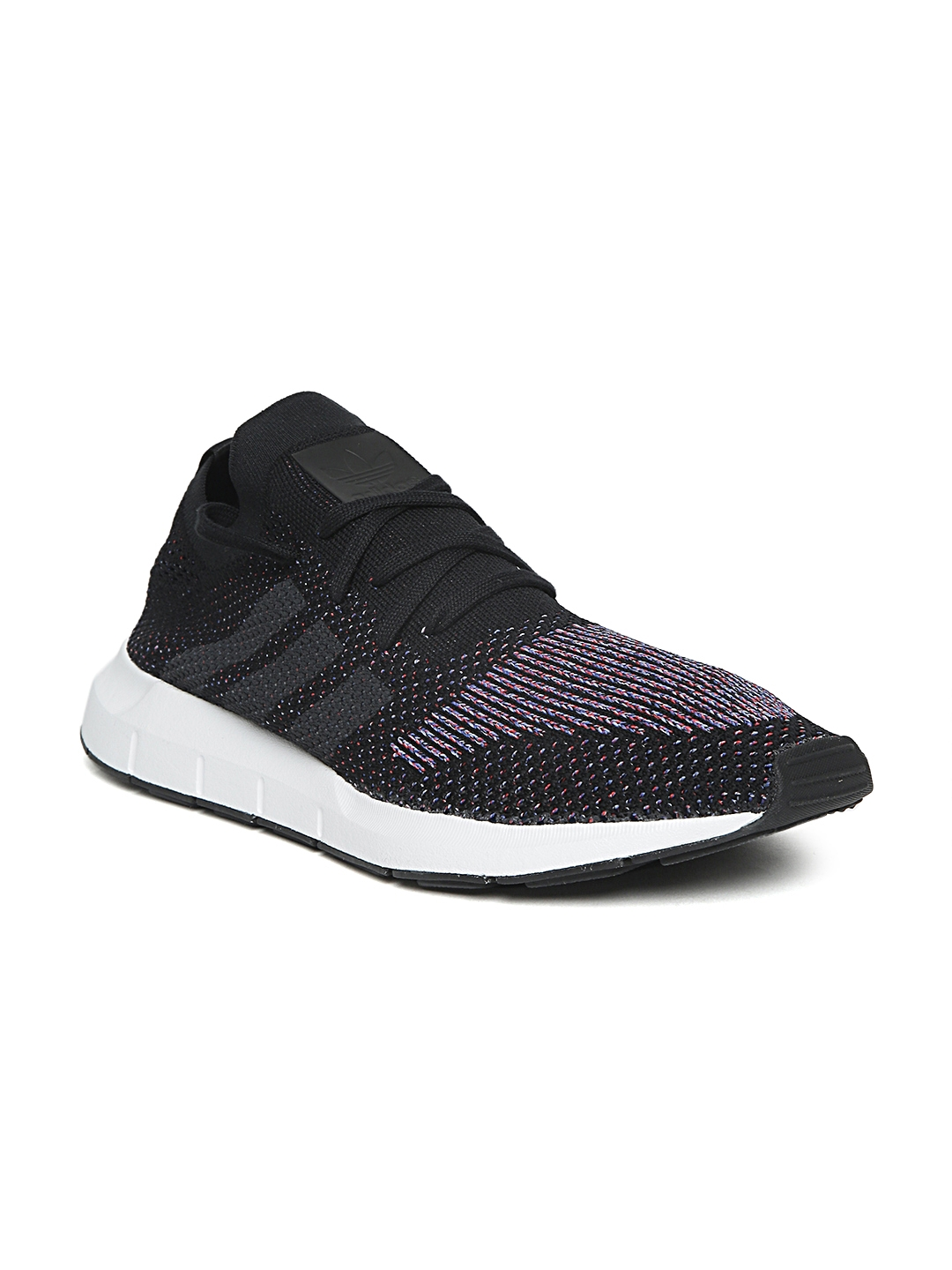 5e271ec8e9adf Buy ADIDAS Originals Men Black Swift Run PK Woven Design Sneakers ...