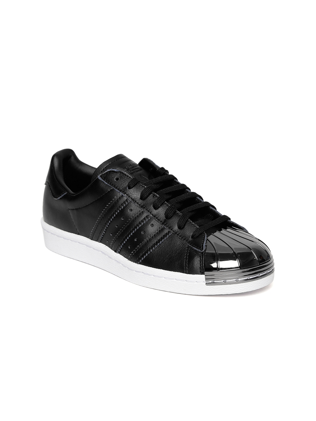 a59d4531765ae5 Buy ADIDAS Originals Women Black Superstar 80S MT Leather Sneakers ...
