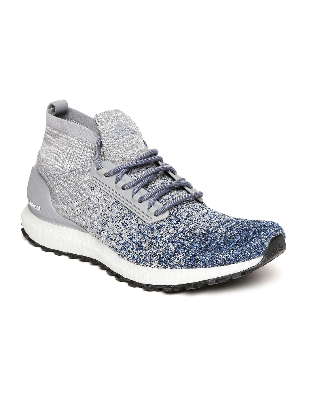 reputable site d39a0 51eb2 ADIDAS Men Grey & Blue Ultraboost All Terrain Running Shoes