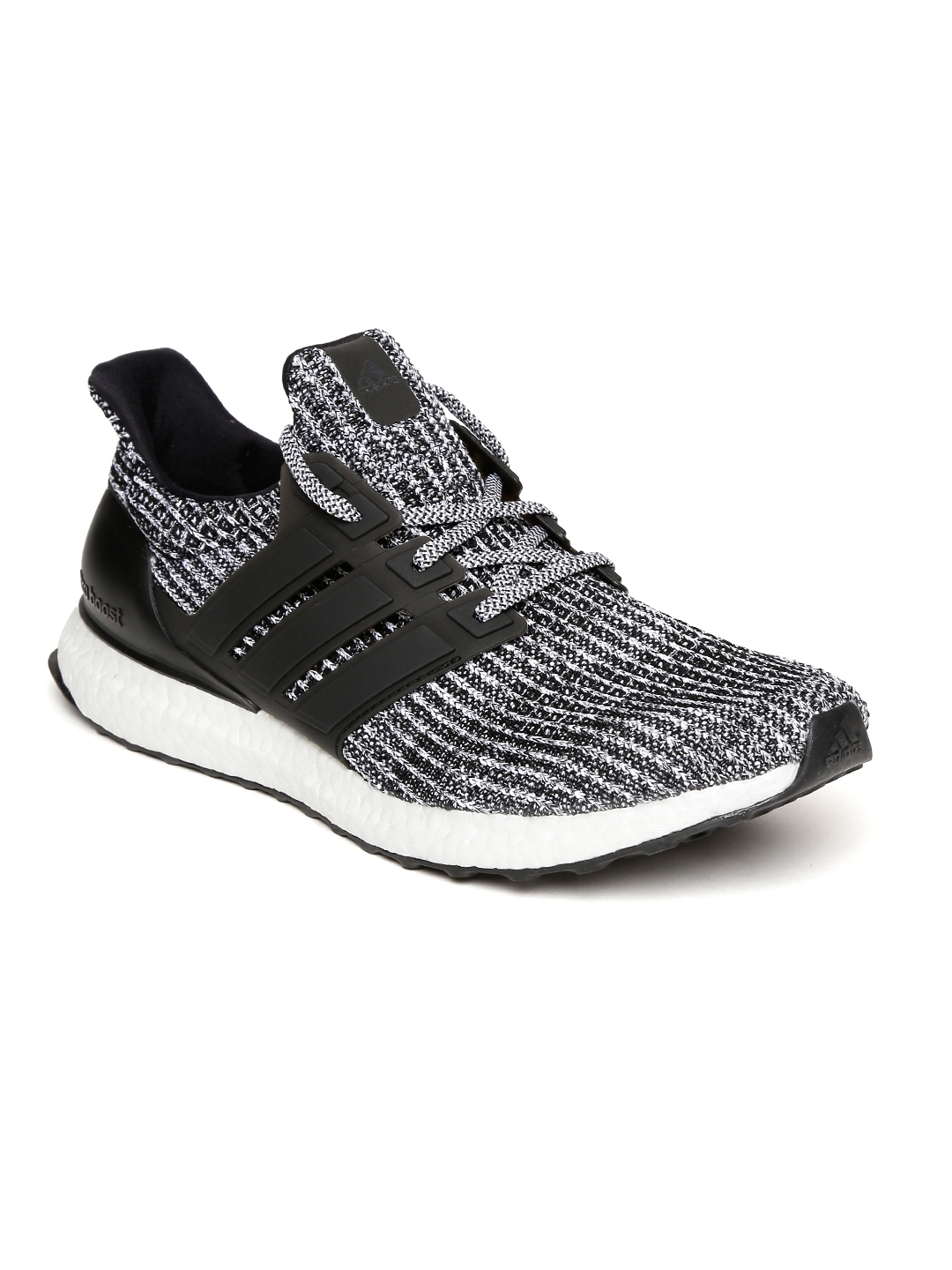 46f96c2b6d0ca Buy ADIDAS Men Black   White Ultraboost Running Shoes - Sports Shoes ...