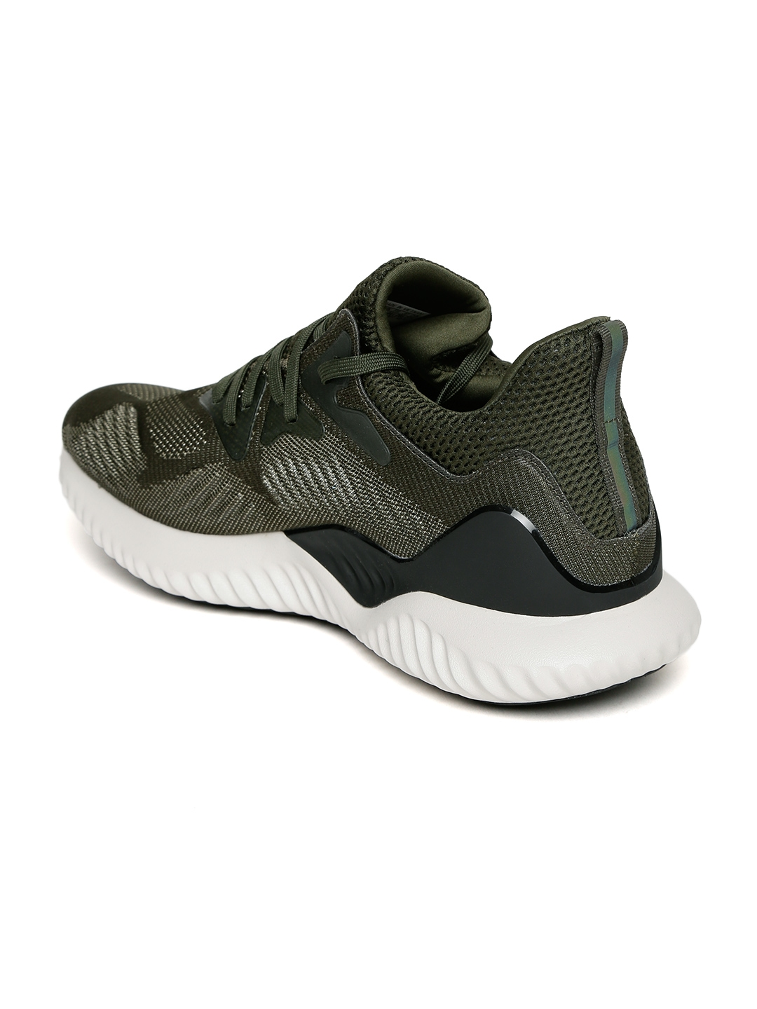 1446cc99b2749 Buy ADIDAS Men Olive Green ALPHABOUNCE BEYOND Running Shoes - Sports ...