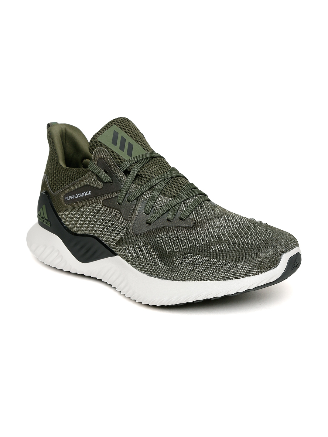 865fbbd695b1d Buy ADIDAS Men Olive Green ALPHABOUNCE BEYOND Running Shoes - Sports ...