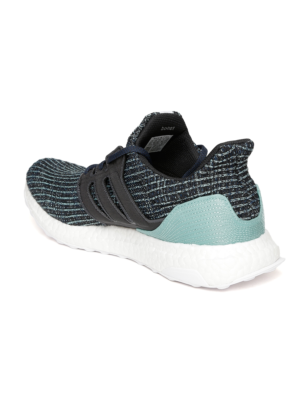 1f7a1158586 Buy ADIDAS Men Blue   Black Ultraboost PARLEY Running Shoes - Sports ...