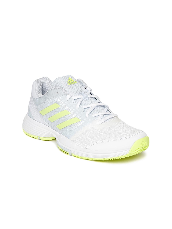 pretty nice aa497 4ff8a ADIDAS Women Blue   White BARRICADE CLUB Tennis Shoes