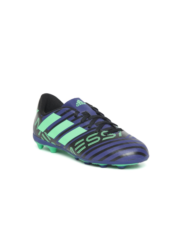 ADIDAS Boys Blue   Green NEMEZIZ Messi 17.4 Firm Ground Football Shoes