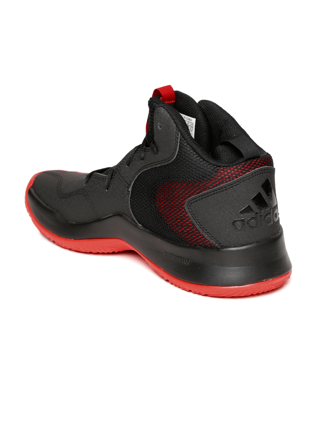 552b349004a771 ADIDAS Men Black   Red Synthetic Mid-Top CRAZY TEAM II Basketball Shoes