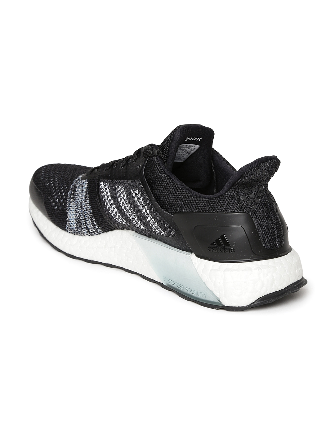 new style 38769 01352 ADIDAS Men Black UltraBoost ST Running Shoes