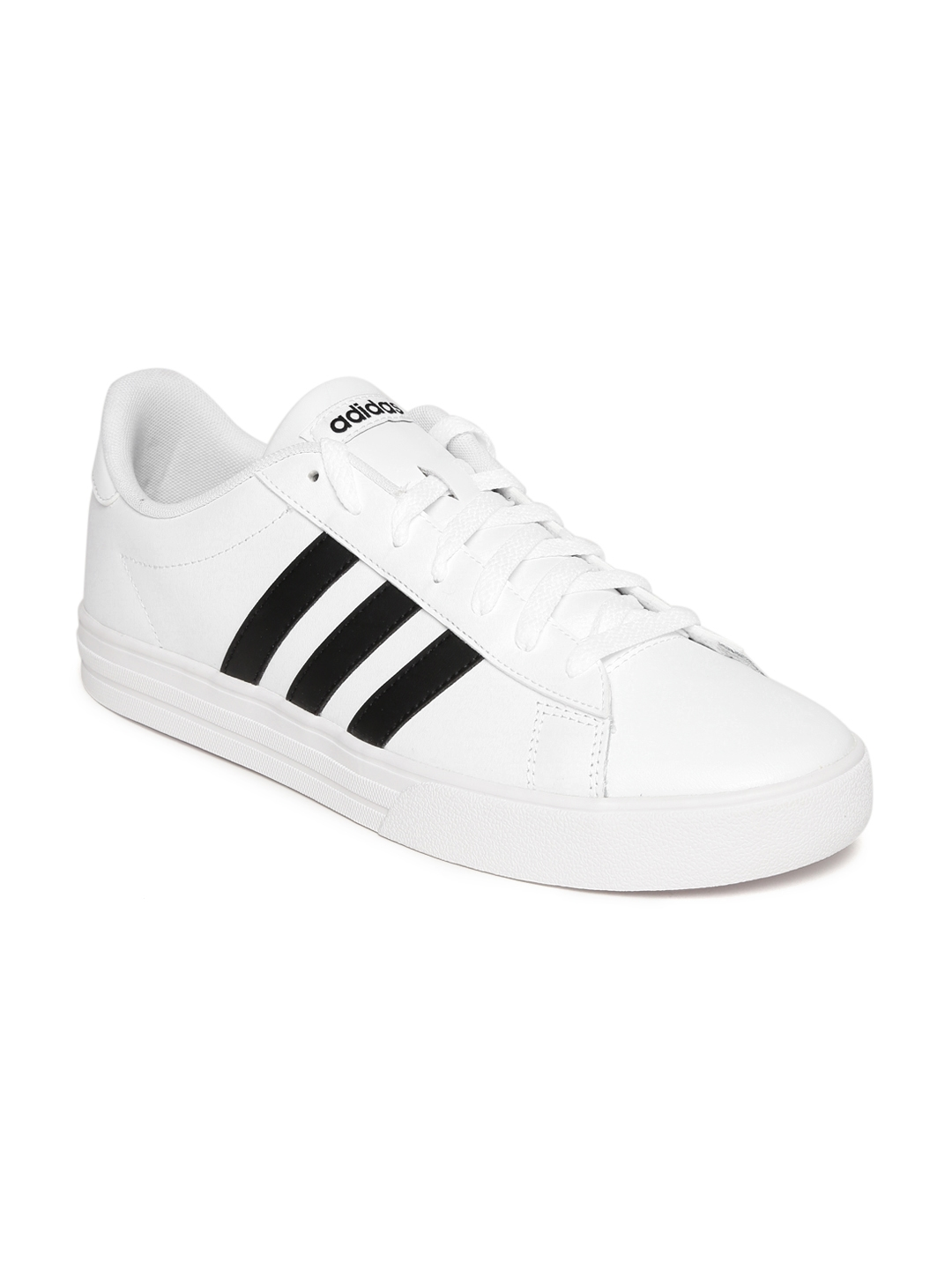 12627b4d58d1 Buy ADIDAS Men White DAILY 2.0 Leather Sneakers - Casual Shoes for ...
