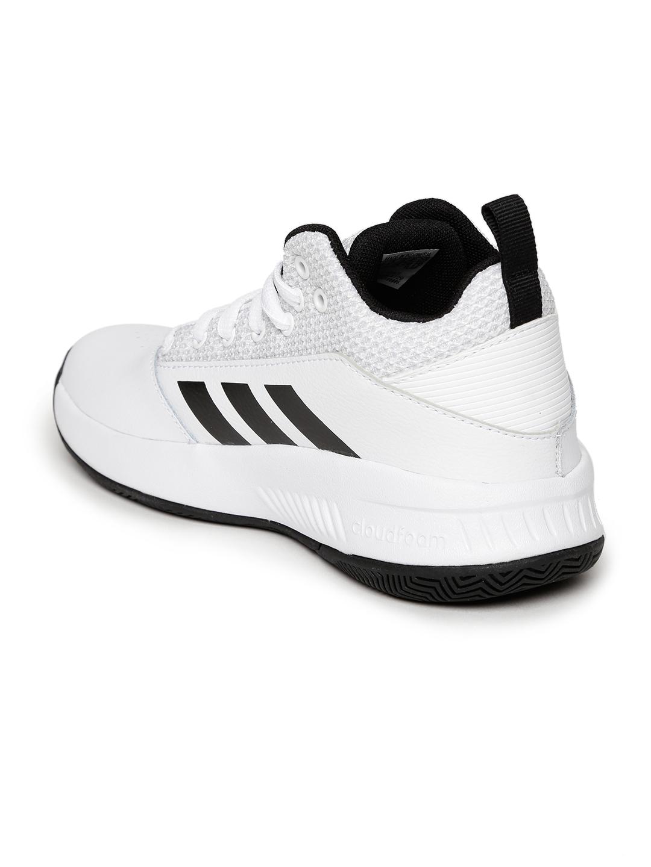 new style d3f02 42fbb ADIDAS Kids White CF ILATION 2.0 K Basketball Shoes