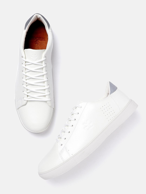 Buy WROGN Men White Solid Sneakers