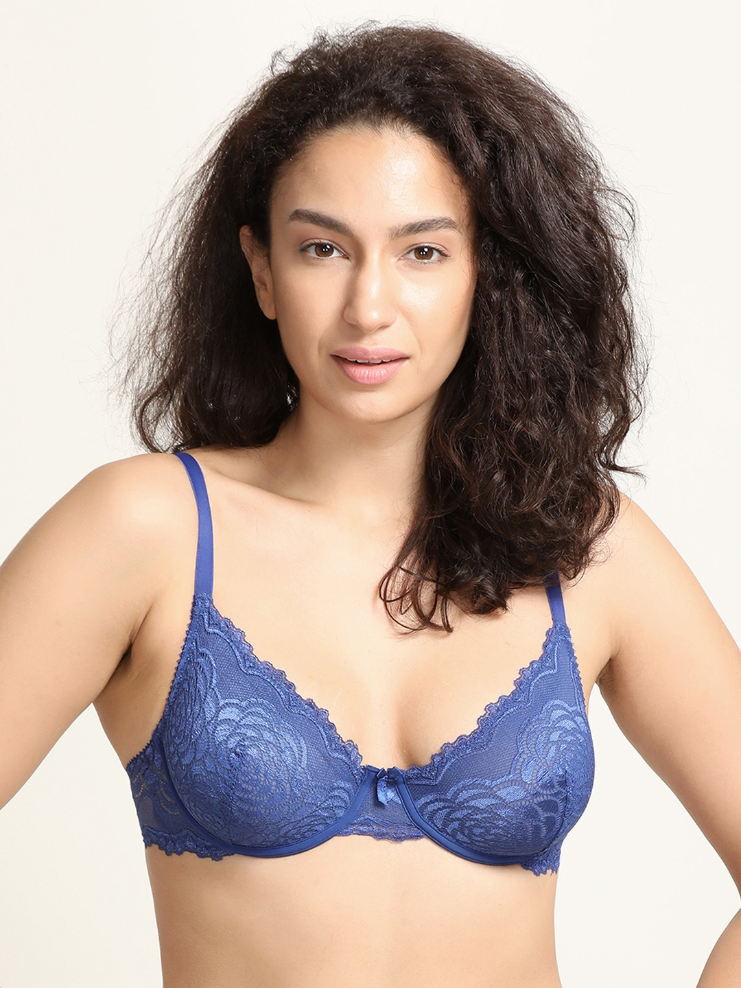 70f17d782fa Zivame Blue Lace Underwired Non Padded T-shirt Bra ZI0101Z0LPZBLUE