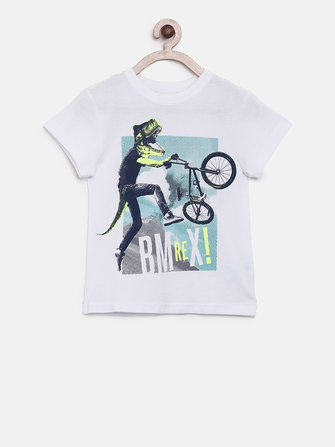 8d7002f8 Buy The Childrens Place Boys White Printed Round Neck T Shirt ...