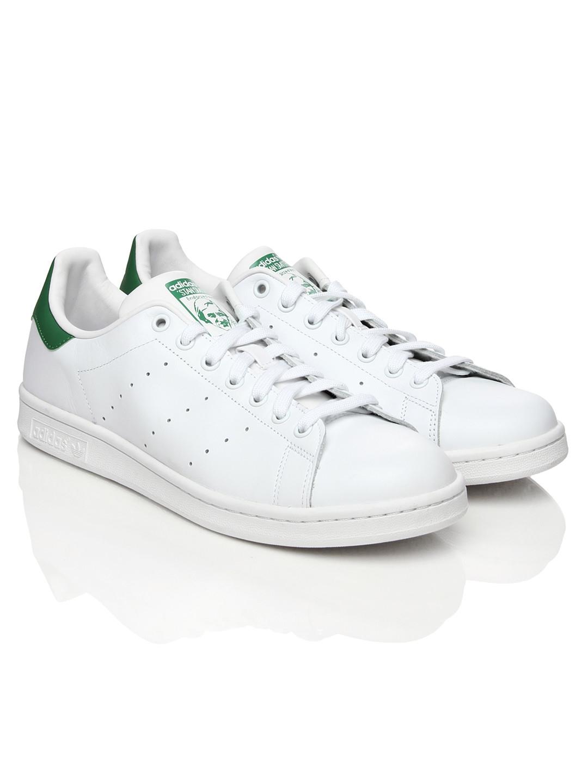 the best attitude 455c3 c01a9 ADIDAS Originals Men White   Green Stan Smith Casual Shoes