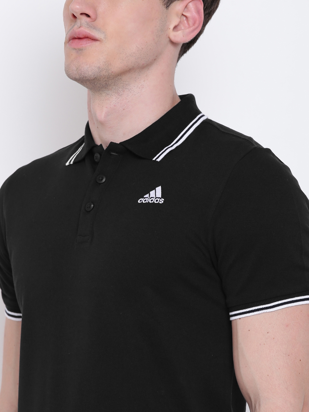 347cb0e96b Buy Adidas Men Black AESS Training Polo T Shirt - Tshirts for Men ...