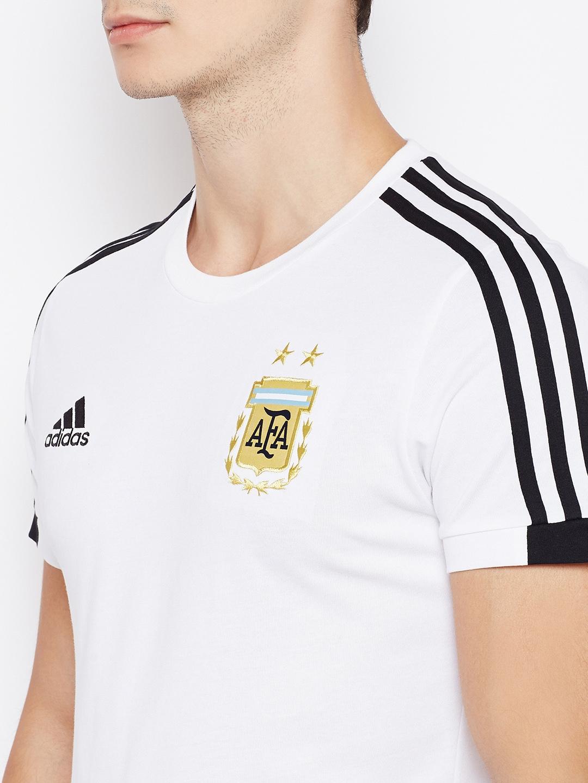 53fee371fd Buy ADIDAS Men White AFA Solid Round Neck Football T Shirt - Tshirts ...