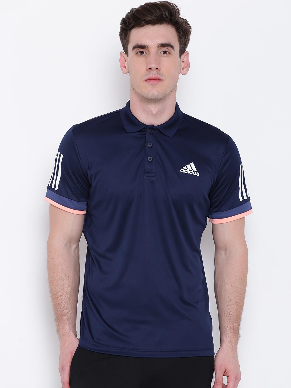 3795229bd8 Buy Adidas Men Navy Blue CLUB Tennis Polo T Shirt - Tshirts for Men ...