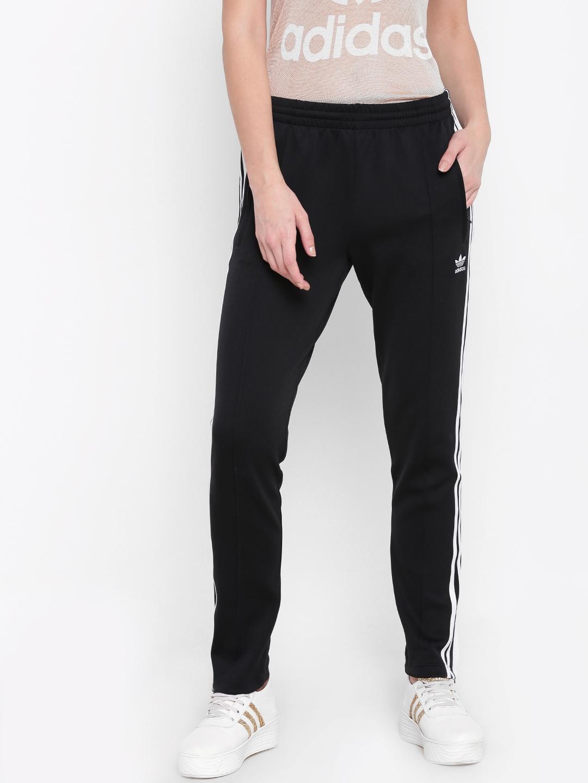 Buy ADIDAS Originals Women Black SST Slim Fit Track Pants - Track ... d3be19cab5
