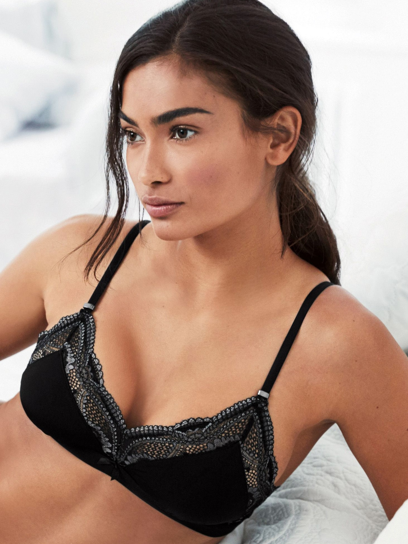 ddbfa65471a4d next Women Black Lace Non-Wired Non Padded Bralette Bra DD05ST203944