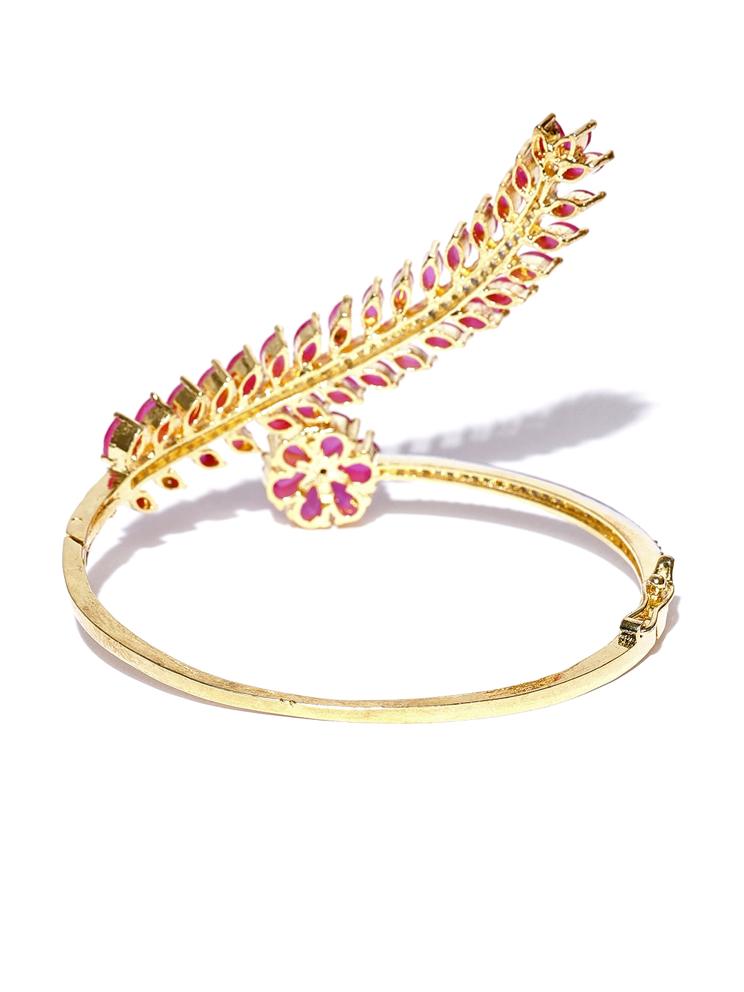 5c798c92d3b Buy Jewels Galaxy Pink Gold Plated Stone Studded Bangle Style ...