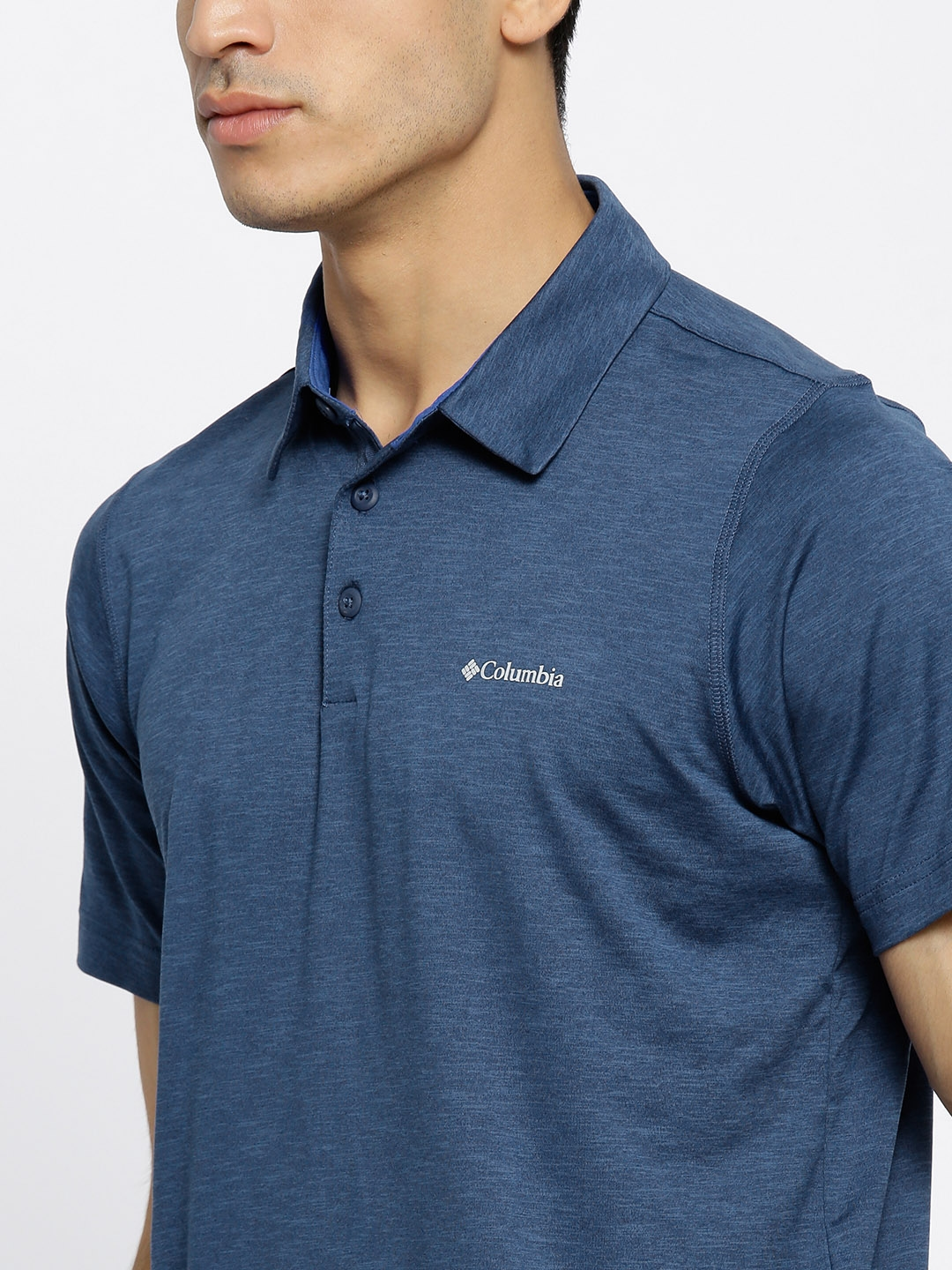05374310d Buy Columbia Navy Tech Trail UV Protect Outdoor Polo T Shirt ...