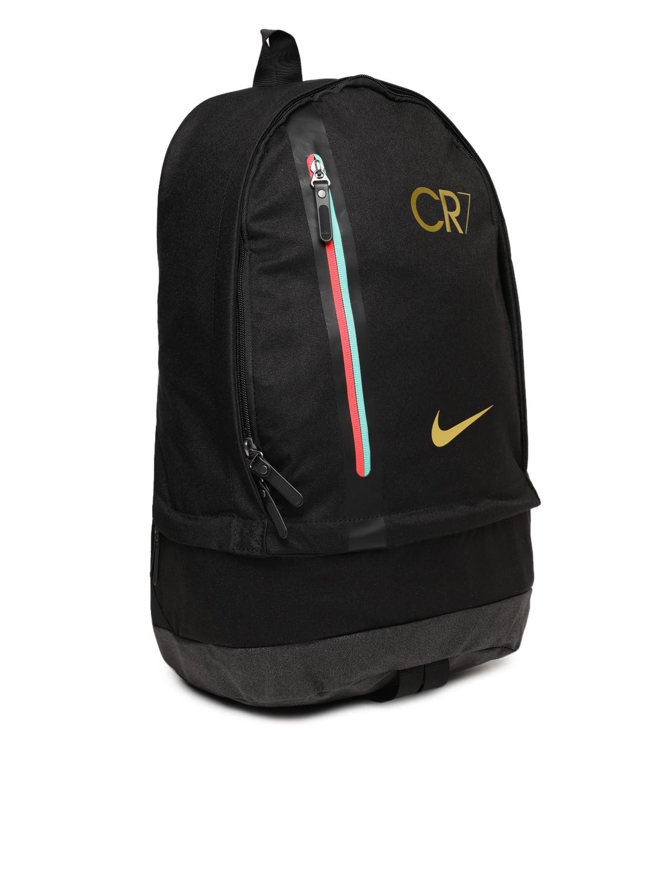 Buy Nike Men Black CR7 NK CHYN Solid Backpack - Backpacks for Men ... 2aaf09662fbaf