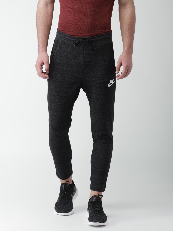 Nike Men Charcoal Grey Advance 15 Standard Fit Track Pants