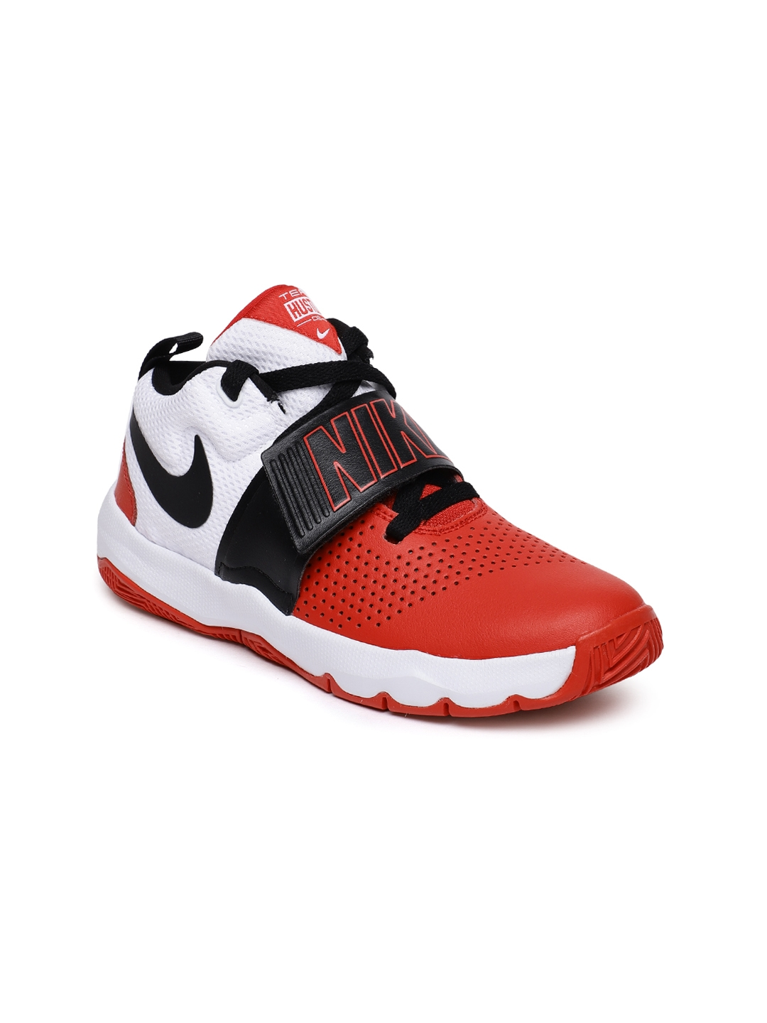 45f66a35445b Buy Nike Boys Red   White Team Hustle D 8 (GS) Basketball Shoes ...