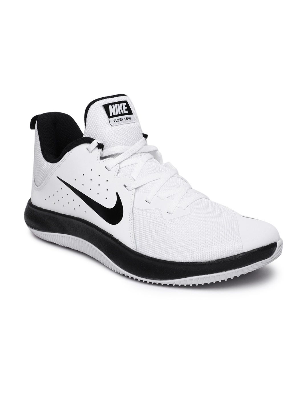dd67149283c Buy Nike Men White Fly.By Low Leather Basketball Shoe - Sports Shoes ...