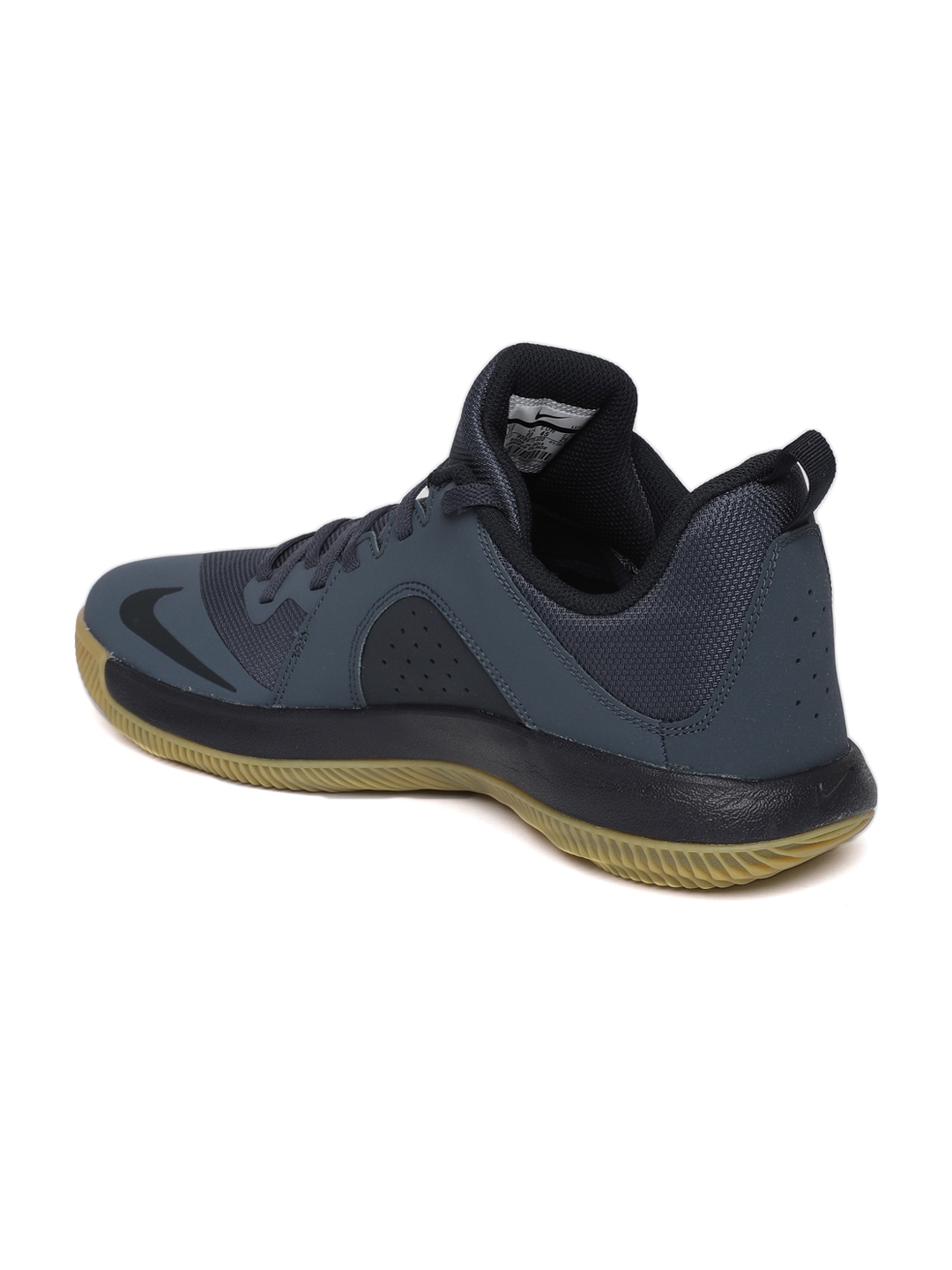 Buy Nike Men Navy Blue Fly.By Low Leather Basketball Shoes - Sports ... 293cb3fb5d
