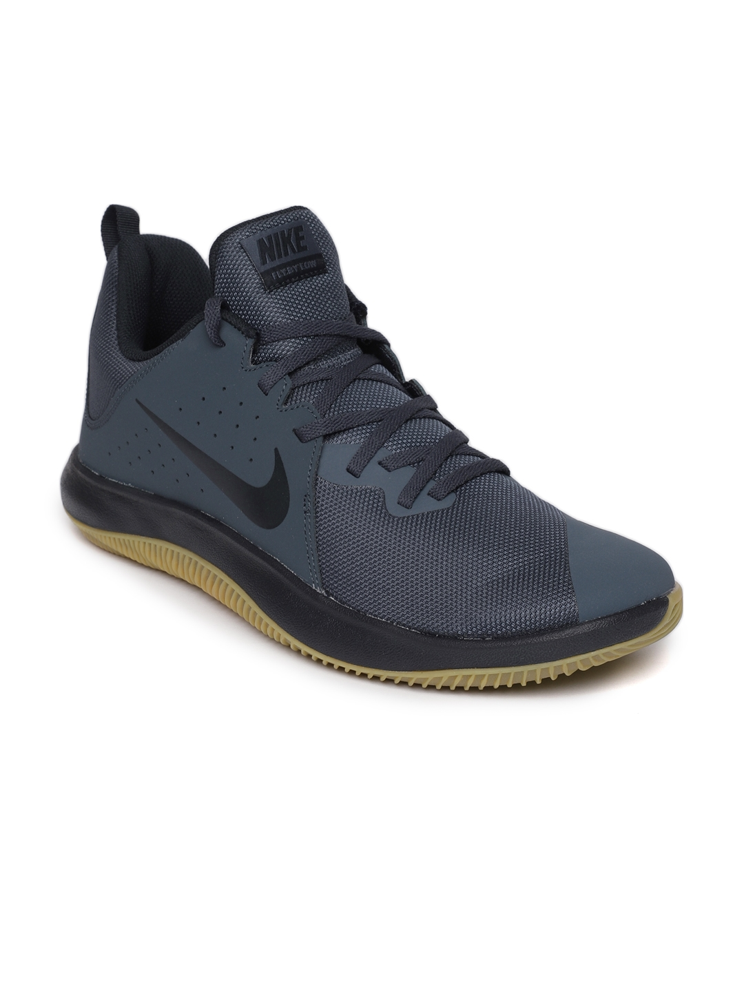 5fd6ba7945bc5 Buy Nike Men Navy Blue Fly.By Low Leather Basketball Shoes - Sports ...