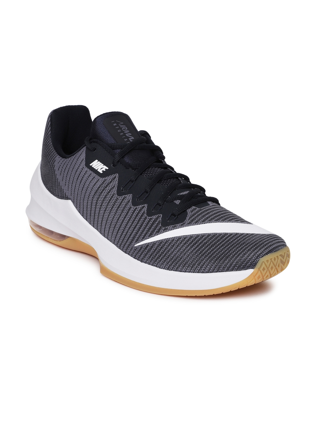 buy popular bd303 a7972 Nike Men Navy Air Max Infuriate 2 Low Basketball Shoes