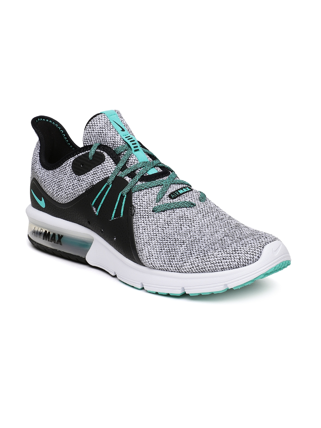 1e6906ee47d03 Buy Nike Men Grey   Black AIR MAX SEQUENT 3 Running Shoes - Sports ...