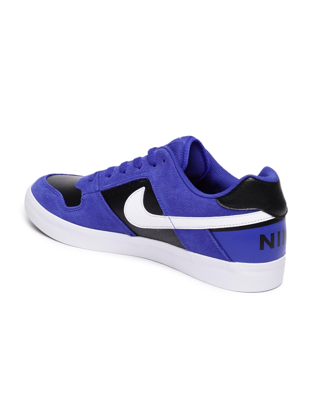 e48803e81462f6 Buy Nike Men Blue   Black SB Delta Force Vulc Leather Skateboarding ...