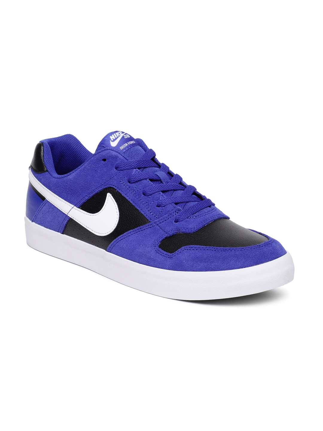 34e69afbaa04 Buy Nike Men Blue   Black SB Delta Force Vulc Leather Skateboarding ...