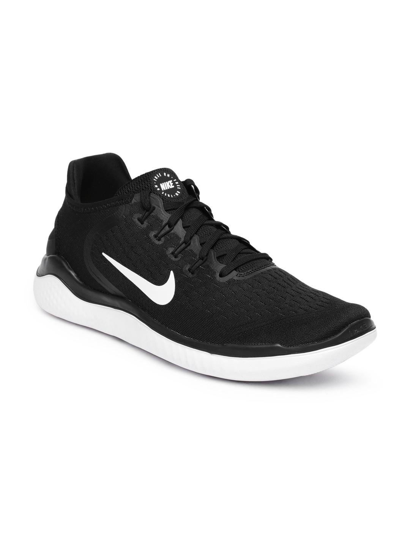 e84f077b67c Buy Nike Men Black Free RN 2018 Running Shoes - Sports Shoes for Men ...