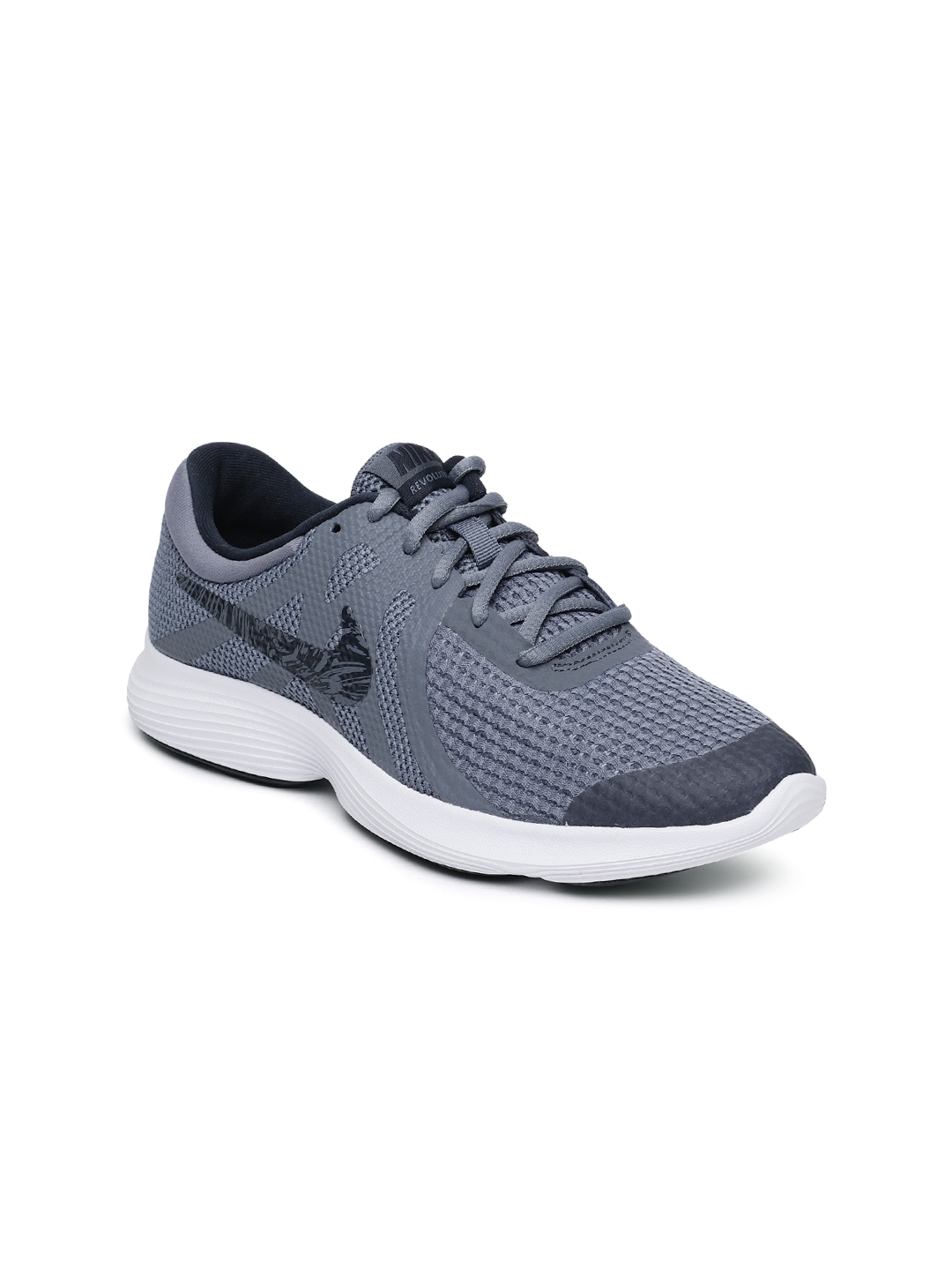 get cheap 70b94 4a196 Nike Boys Grey Revolution 4 (GS) Running Shoes