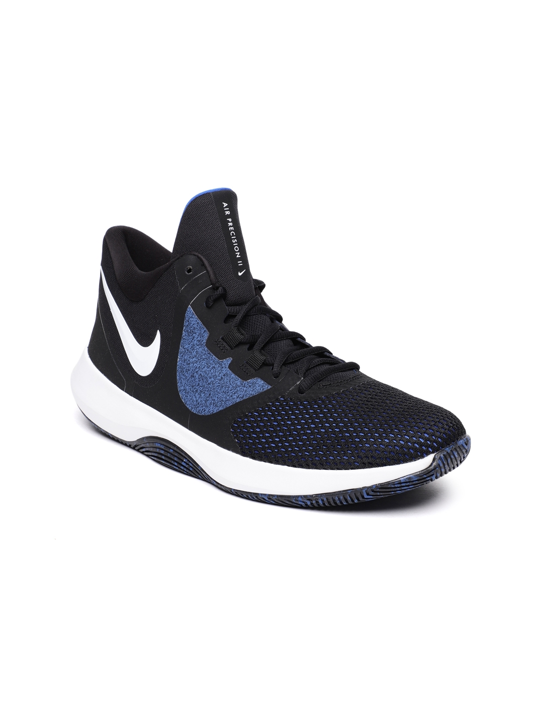 aae3d9285b1 Buy Nike Men Black   Blue Air Precision II Basketball Shoes - Sports ...