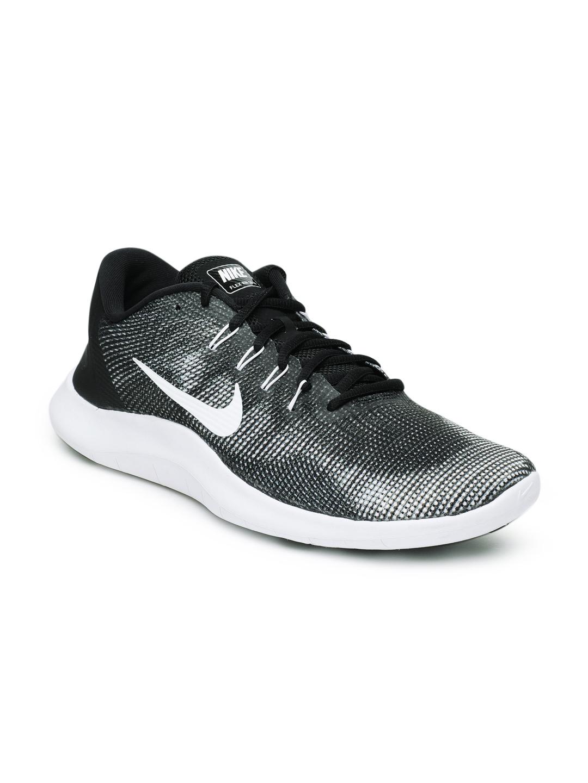 huge discount 452c9 962b1 Nike Men Black & White Flex RN 2018 Running Shoes