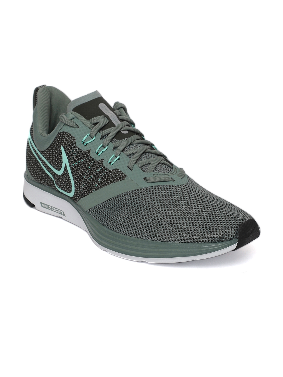 48a7e9e23a3d Buy Nike Men Green Zoom Strike Running Shoes - Sports Shoes for Men ...