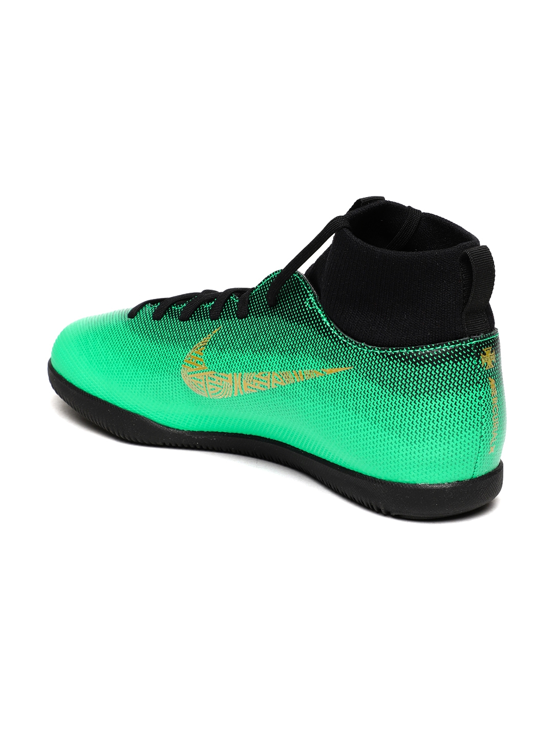 official photos 3fccf 5d0e8 Nike Kids Green SUPERFLY 6 CLUB CR7 IC Football Shoes