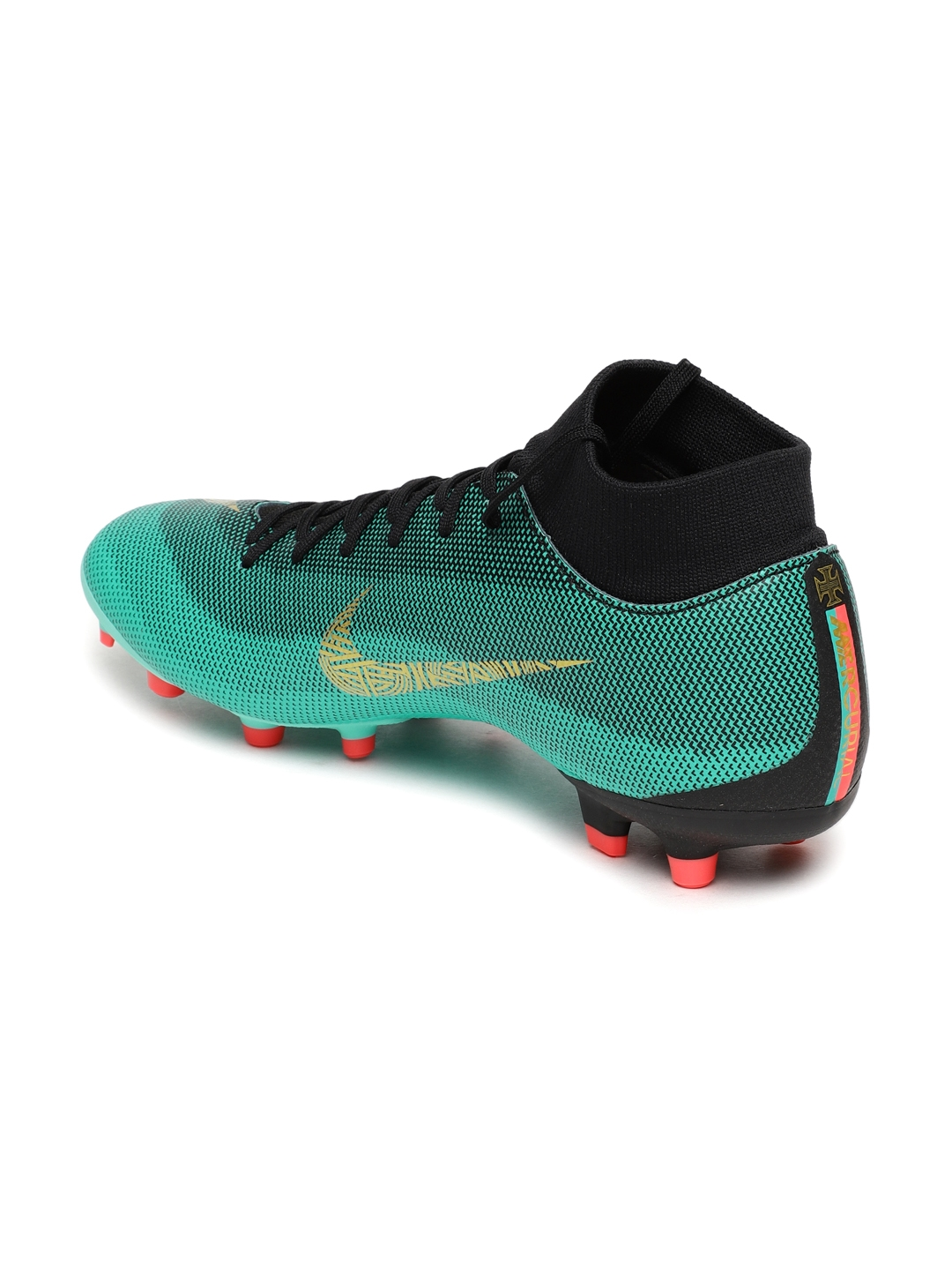 4fdf4e47246d Buy Nike Kids Green SUPERFLY 6 ACADEMY CR7 FG/MG Football Shoes ...