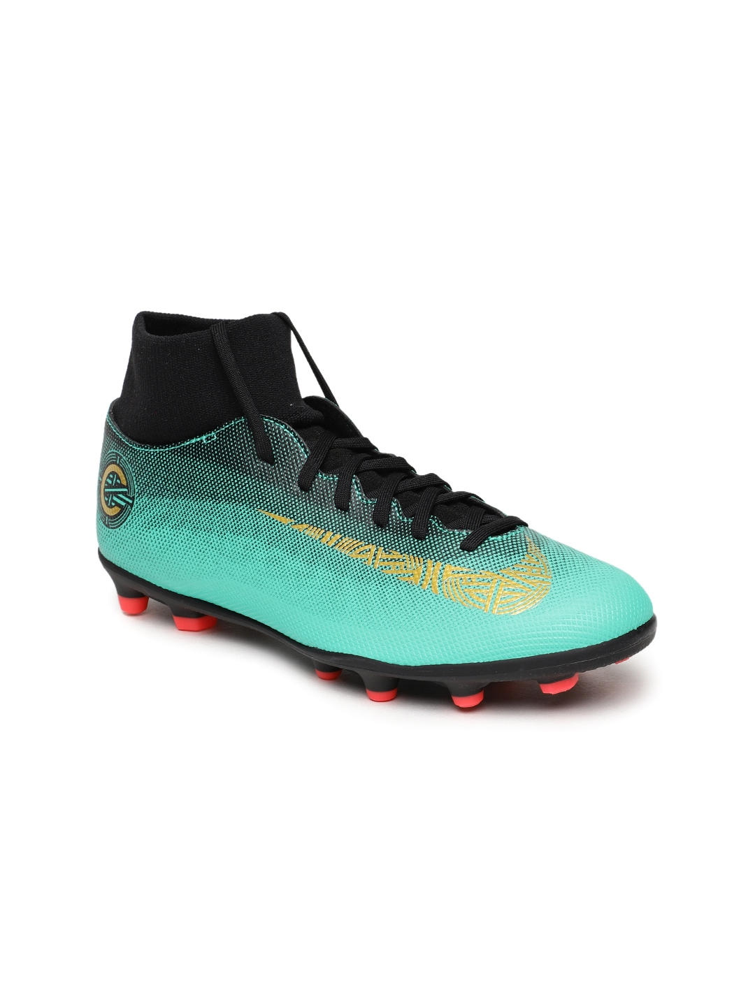 1d02f9ec8 Buy Nike Unisex Green & Black SUPERFLY 6 CLUB CR7 FG/MG Football ...