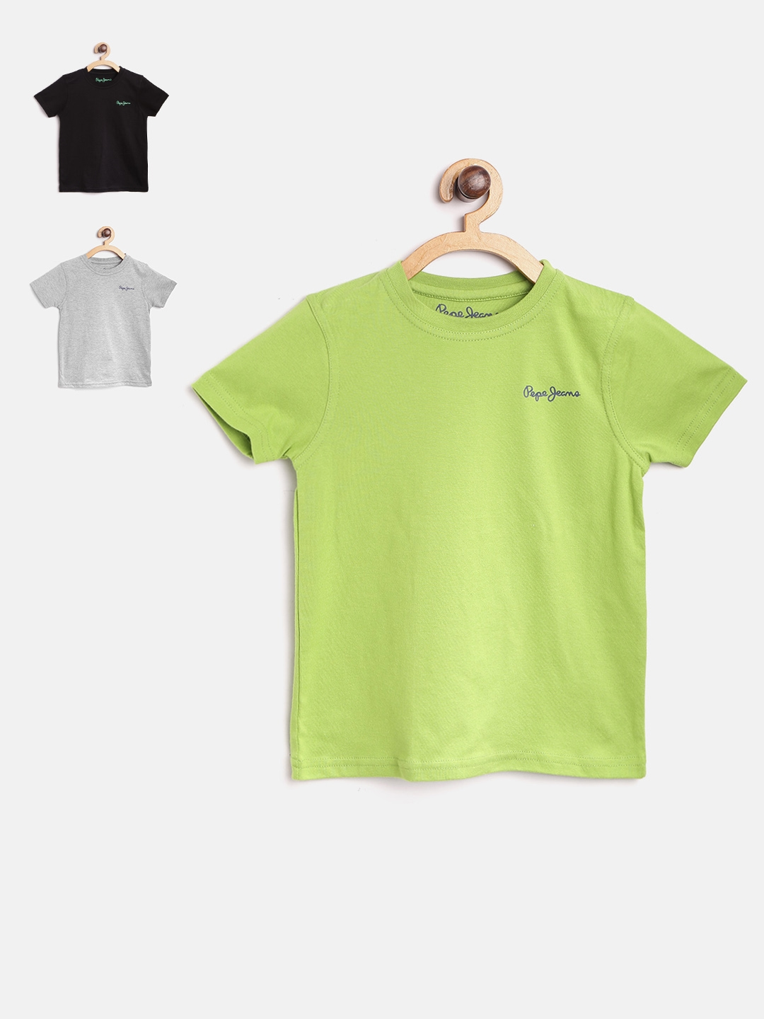 Buy Pepe Jeans Boys Pack Of 3 Round Neck T Shirt Tshirts For Boys 4042233 Myntra