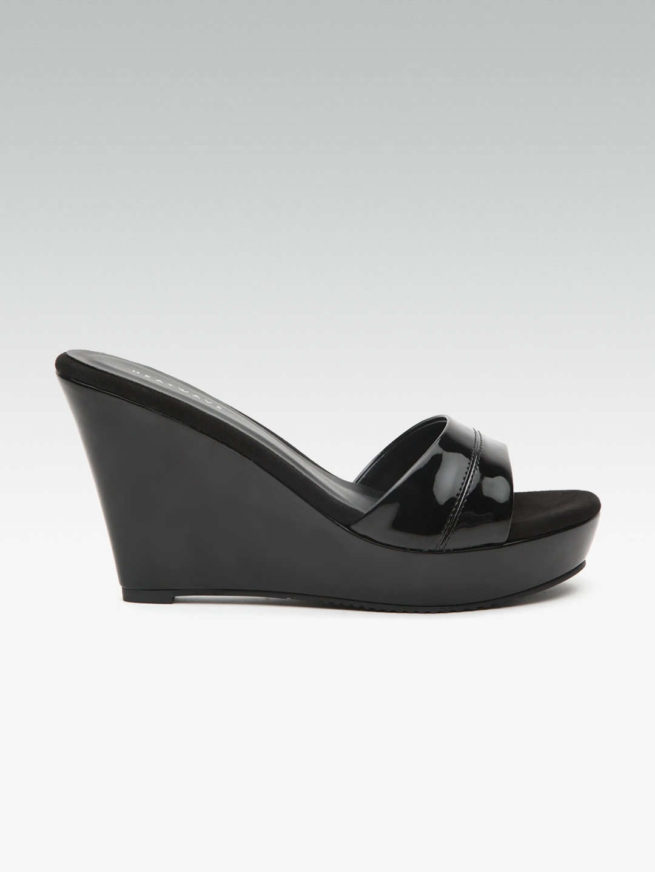 73302cb83210 Buy HEATWAVE Women Black Solid Sandals - Heels for Women 4042759 ...