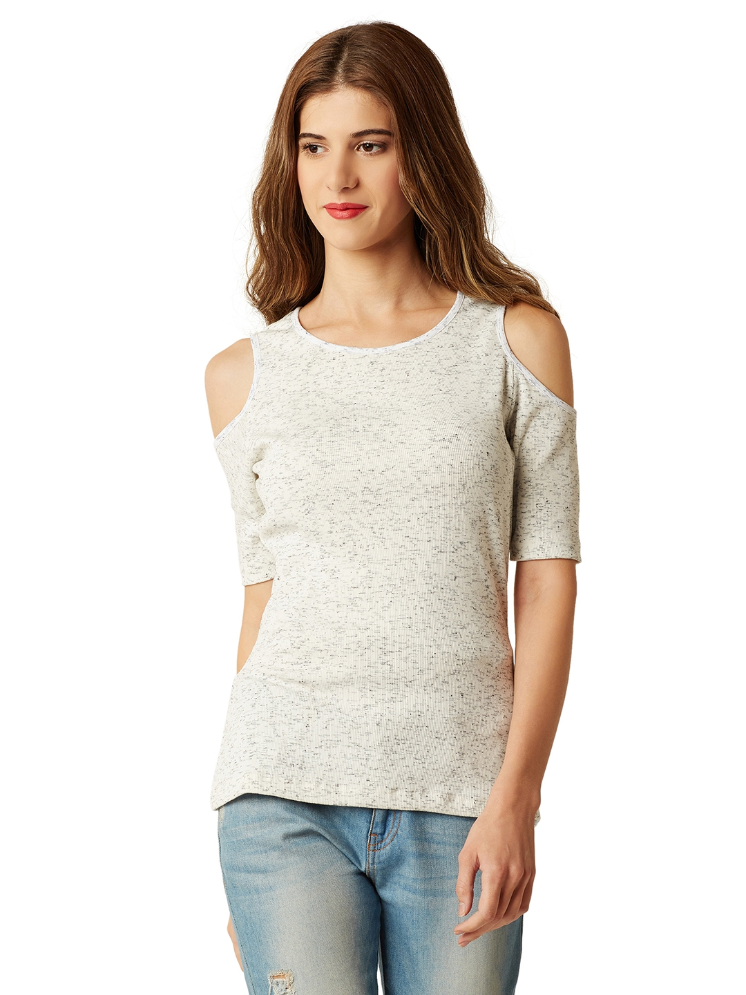 Miss Chase Women Off White Solid Top