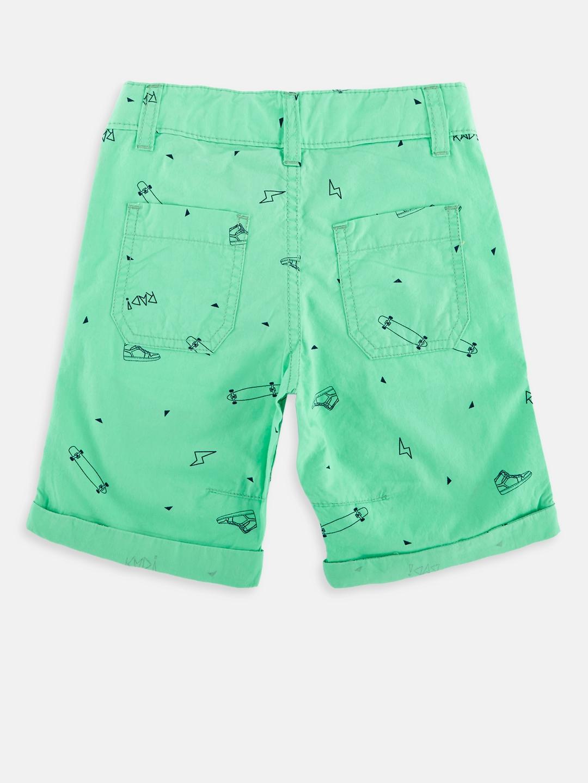 2f7d966f6d0 Buy CHALK By Pantaloons Boys Green Printed Regular Fit Regular ...