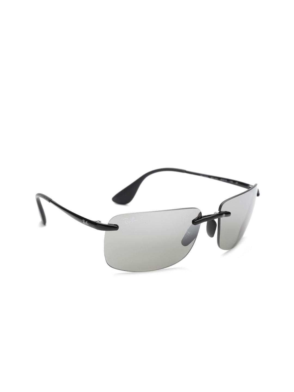 50d5d12c791 Ray-Ban Men Rimless Polarised   Mirrored Rectangle Sunglasses  0RB4255601 5J60