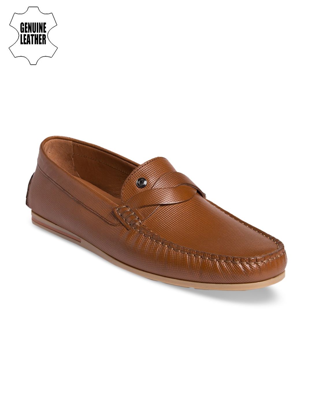 424c94024ee Buy TONI ROSSI Men Tan Penny Loafers - Casual Shoes for Men 4132147 ...