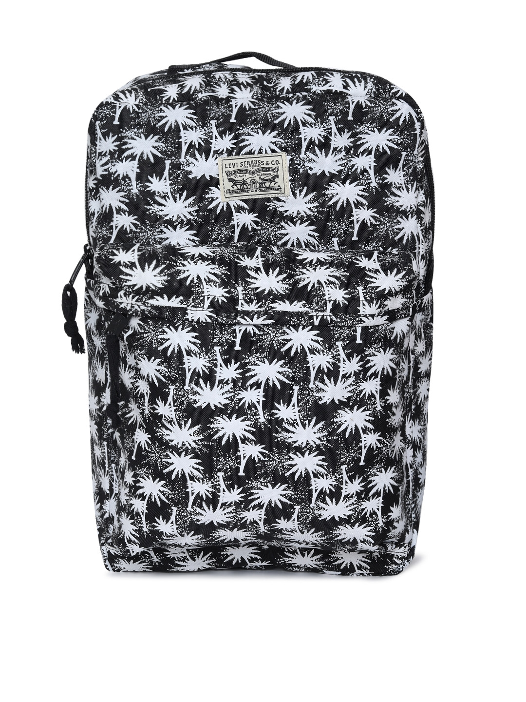 Levis Unisex Black   White Printed L PACK Laptop Backpack