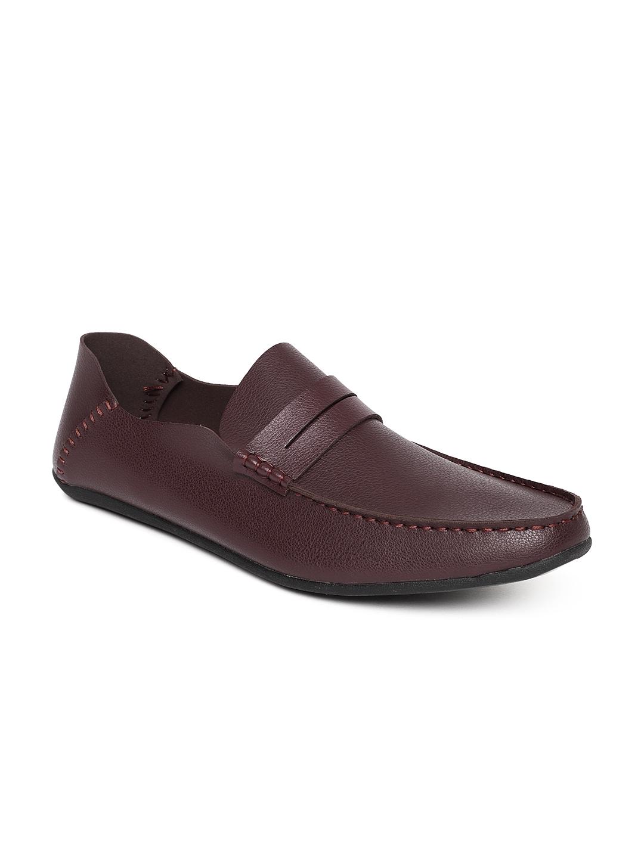 34ddd9755d8 Buy Flying Machine Men Burgundy Ellis Suede Loafers - Casual Shoes ...